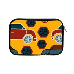 Husbands Cars Autos Pattern On A Yellow Background Apple iPad Mini Zipper Cases