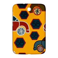 Husbands Cars Autos Pattern On A Yellow Background Samsung Galaxy Note 8.0 N5100 Hardshell Case