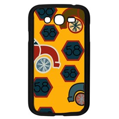 Husbands Cars Autos Pattern On A Yellow Background Samsung Galaxy Grand DUOS I9082 Case (Black)