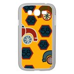 Husbands Cars Autos Pattern On A Yellow Background Samsung Galaxy Grand DUOS I9082 Case (White) Front