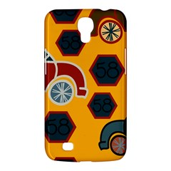Husbands Cars Autos Pattern On A Yellow Background Samsung Galaxy Mega 6.3  I9200 Hardshell Case