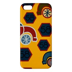 Husbands Cars Autos Pattern On A Yellow Background Iphone 5s/ Se Premium Hardshell Case