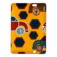 Husbands Cars Autos Pattern On A Yellow Background Kindle Fire HDX 8.9  Hardshell Case