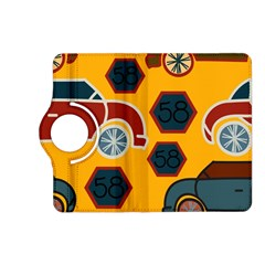 Husbands Cars Autos Pattern On A Yellow Background Kindle Fire Hd (2013) Flip 360 Case
