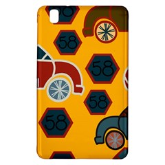 Husbands Cars Autos Pattern On A Yellow Background Samsung Galaxy Tab Pro 8.4 Hardshell Case