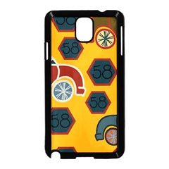 Husbands Cars Autos Pattern On A Yellow Background Samsung Galaxy Note 3 Neo Hardshell Case (Black)
