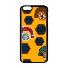 Husbands Cars Autos Pattern On A Yellow Background Apple Iphone 6/6s Black Enamel Case