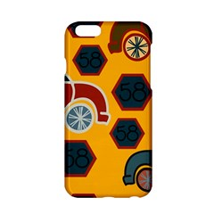 Husbands Cars Autos Pattern On A Yellow Background Apple Iphone 6/6s Hardshell Case
