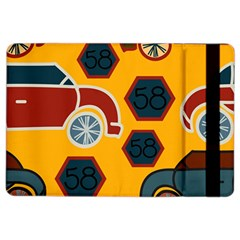 Husbands Cars Autos Pattern On A Yellow Background iPad Air 2 Flip