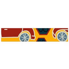 Husbands Cars Autos Pattern On A Yellow Background Flano Scarf (small)