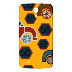 Husbands Cars Autos Pattern On A Yellow Background Samsung Galaxy Mega I9200 Hardshell Back Case