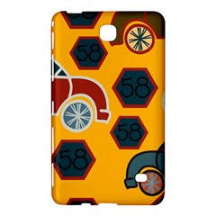 Husbands Cars Autos Pattern On A Yellow Background Samsung Galaxy Tab 4 (8 ) Hardshell Case