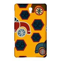 Husbands Cars Autos Pattern On A Yellow Background Samsung Galaxy Tab S (8.4 ) Hardshell Case