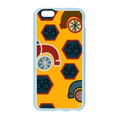 Husbands Cars Autos Pattern On A Yellow Background Apple Seamless iPhone 6/6S Case (Color)