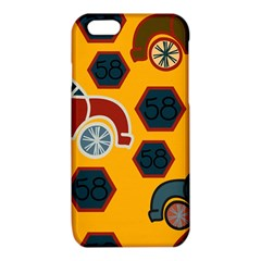 Husbands Cars Autos Pattern On A Yellow Background iPhone 6/6S TPU Case