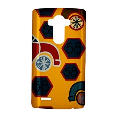 Husbands Cars Autos Pattern On A Yellow Background Lg G4 Hardshell Case