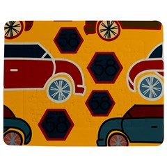 Husbands Cars Autos Pattern On A Yellow Background Jigsaw Puzzle Photo Stand (Rectangular)