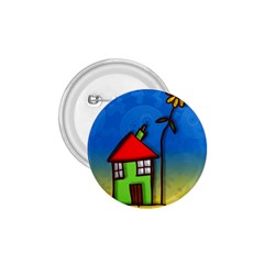 Colorful Illustration Of A Doodle House 1.75  Buttons
