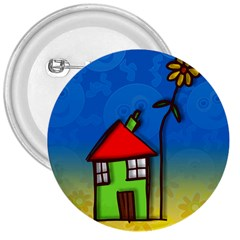 Colorful Illustration Of A Doodle House 3  Buttons