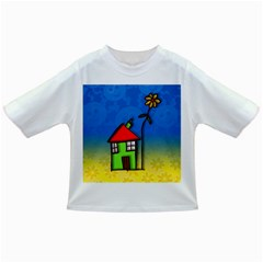 Colorful Illustration Of A Doodle House Infant/toddler T Shirts