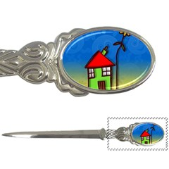 Colorful Illustration Of A Doodle House Letter Openers