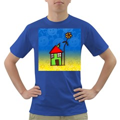 Colorful Illustration Of A Doodle House Dark T-Shirt