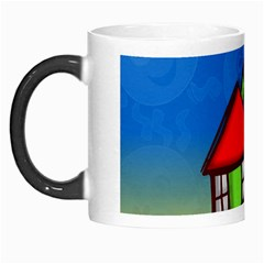 Colorful Illustration Of A Doodle House Morph Mugs