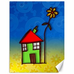 Colorful Illustration Of A Doodle House Canvas 12  X 16