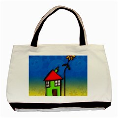 Colorful Illustration Of A Doodle House Basic Tote Bag (Two Sides)