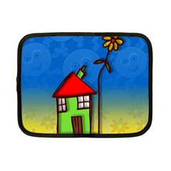 Colorful Illustration Of A Doodle House Netbook Case (small)