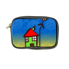 Colorful Illustration Of A Doodle House Coin Purse