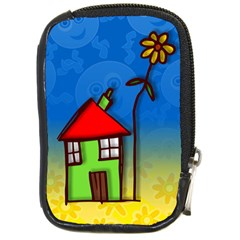 Colorful Illustration Of A Doodle House Compact Camera Cases