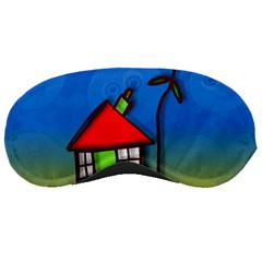 Colorful Illustration Of A Doodle House Sleeping Masks