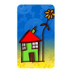 Colorful Illustration Of A Doodle House Memory Card Reader