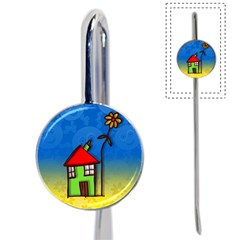 Colorful Illustration Of A Doodle House Book Mark