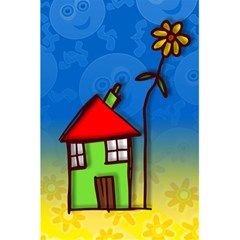 Colorful Illustration Of A Doodle House 5.5  x 8.5  Notebooks