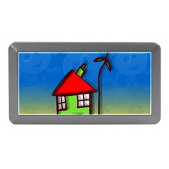Colorful Illustration Of A Doodle House Memory Card Reader (Mini)