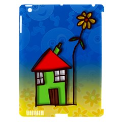 Colorful Illustration Of A Doodle House Apple iPad 3/4 Hardshell Case (Compatible with Smart Cover)