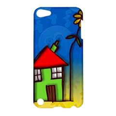 Colorful Illustration Of A Doodle House Apple iPod Touch 5 Hardshell Case