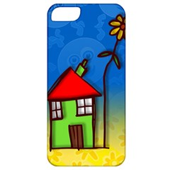 Colorful Illustration Of A Doodle House Apple iPhone 5 Classic Hardshell Case