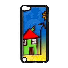 Colorful Illustration Of A Doodle House Apple iPod Touch 5 Case (Black)