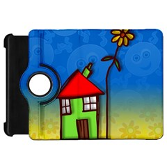 Colorful Illustration Of A Doodle House Kindle Fire HD 7