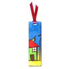 Colorful Illustration Of A Doodle House Small Book Marks
