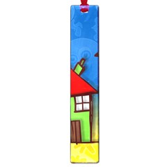 Colorful Illustration Of A Doodle House Large Book Marks