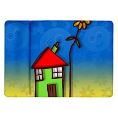 Colorful Illustration Of A Doodle House Samsung Galaxy Tab 10.1  P7500 Flip Case