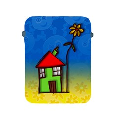 Colorful Illustration Of A Doodle House Apple Ipad 2/3/4 Protective Soft Cases