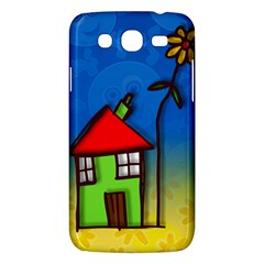 Colorful Illustration Of A Doodle House Samsung Galaxy Mega 5.8 I9152 Hardshell Case