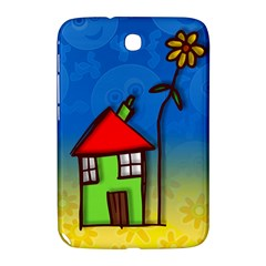 Colorful Illustration Of A Doodle House Samsung Galaxy Note 8 0 N5100 Hardshell Case