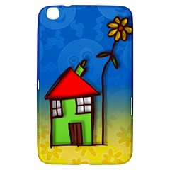Colorful Illustration Of A Doodle House Samsung Galaxy Tab 3 (8 ) T3100 Hardshell Case