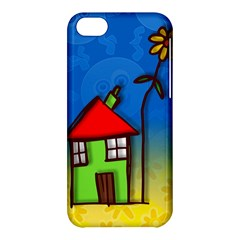 Colorful Illustration Of A Doodle House Apple iPhone 5C Hardshell Case